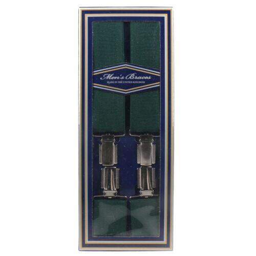 Mens Green 35mm English Braces Heavy Duty Suspenders Adjustable England Made