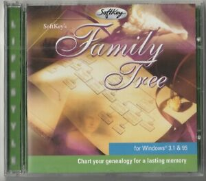 Classic-Pc-Software-Softkey-039-s-Family-Tree-Chart-Your-Genealogy-Win3-1-95