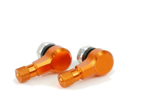 CNC Alu Winkelventil 90 Grad Yamaha MT-09 ab 2013 orange