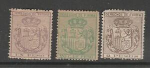 Spain Revenue stamp 4-2-21 no gum -Philippines Nicer most mnh or near mnh gum 7e