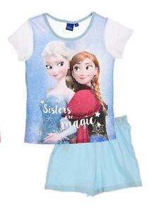 pigiama Frozen Principesse Disney bambina 4 5 6 8 anni collezione ESTATE 2016