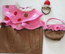 POTTERY BARN KIDS CUPCAKE HALLOWEEN COSTUME NWT NEW  4-6 INCLUDES TREAT BAG