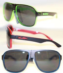 KUSH Sonnenbrille Designer Aviator Retro schwarz neon gelb grün blau rot 978 8mhZBnh3n