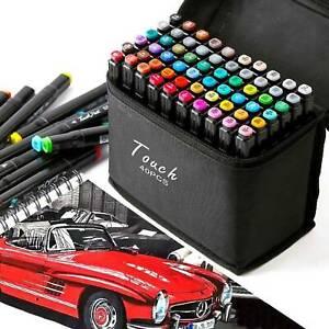40-Couleur-Alcool-Marqueur-Permanent-Feutre-Crayon-Peinture-Graphique-Stylo-Art