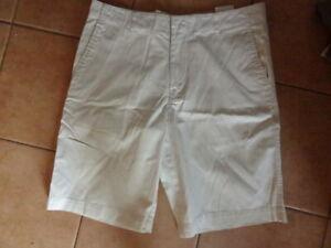 Herren-Short-Marc-O-039-Polo-W34-50-52-M-L-Bermuda-Hose-creme-weiss-Reine-Baumwolle