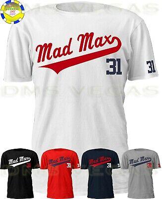 """WHITE Washington Nationals Max Scherzer /""""Mad Max/""""  T-Shirt"""