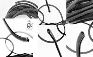 1m=2,00€ Kantenschutz schwarz Klemmprofil 9,5 x 6,5 mm Klemmbereich 1-2 mm