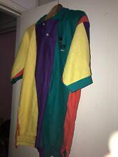 Vtg 1980s Tektronix Net Station Color Block Employee Staff Polo Shirt Usa Made M