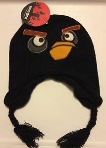 Angry Birds Black Bird Youth Knit Hat Stocking Hat Youth Size 4-16 ... bcdb867ac1e7