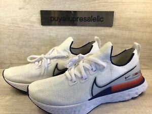 Men's Nike React Infinity Run Flyknit Blue Ribbon Sports CW7597-100 Size 13