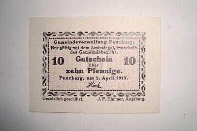 (047) Notgeld Gemeinde Penzberg 10 Pfennig 1917