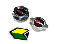 I Love Jdm Mazda Oil Filler Radiator Cap Kit W/ Beginner Badge