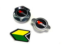 I Love Jdm Mitsubishi Oil Filler Radiator Cap Kit W/ Beginner Badge