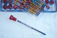 Amazing Spiderman 12 Pencil & 12 Self Inking Stamper Topper School Favor Supply