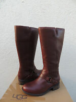 Ugg Dahlen Bourbon Leather/ Fully Shearling Lined Winter Boots, Us 10 Eur 41