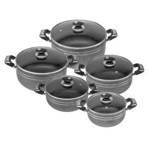 5PC-Die-Cast-Antiadherente-Profunda-Cazuela-Olla-Tapa-de-cristal-cocina-de-induccion-conjunto-Ares