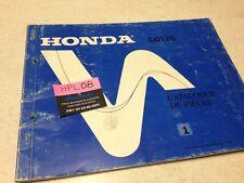 Honda CG125 CG 125 Parts list liste catalogue pièce détachée éd 1 1988 français