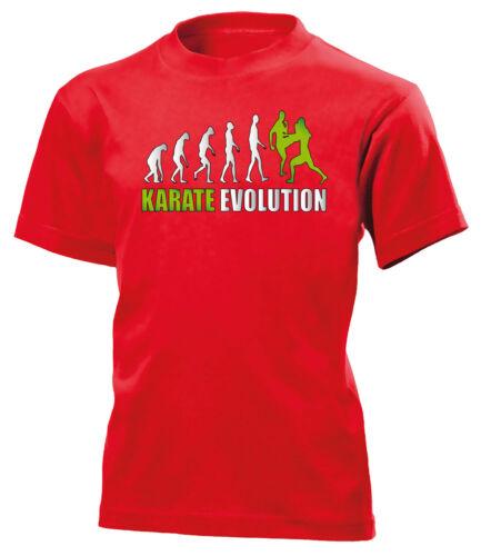KARATE EVOLUTION Bambini T-shirt 140 a 164 Vers colori