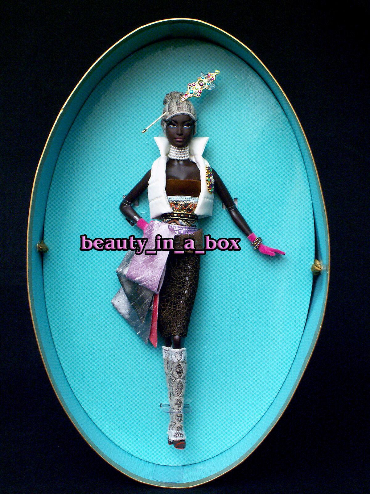 Coco Muñeca Barbie Chapeaux Colección Byron Lars Diseñador AA afroamericano