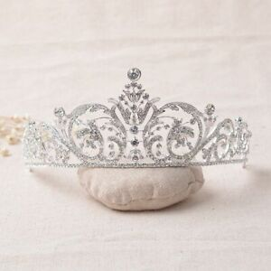 Crystal-Tiara-Wedding-Bride-Headband-Pageants-Queen-Crown-Hair-Rhinestone-Bridal