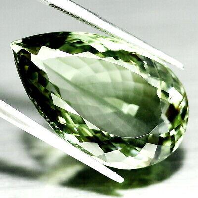 Geschickt Top Big Prasiolite : 27,17 Ct Natürliche Grün Prasiolith (grüner Amethyst) KöStlich Im Geschmack