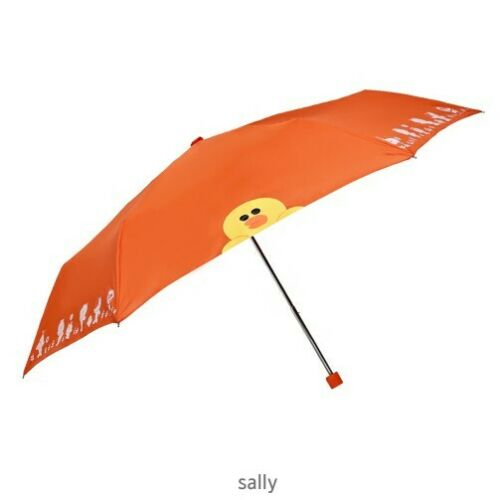 Line Friends Fashion Ultralight Mini Umbrella Compact Small 3 Folding Rain Hot