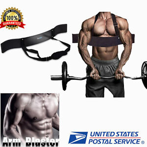 Arm Blaster Body Building Bomber Bicep Isolator Curl Triceps Muscle Training NEW