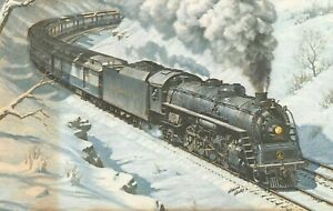 Baltimore-amp-Ohio-Railroad-5567-Class-T3b-4-8-2-Train-1973-Harlan-Haney-Postcard