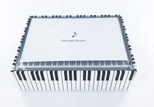 New-Piano-and-Music-Note-Boxed-Notecards-14-Cards-15-Envelopes-Blank-Inside