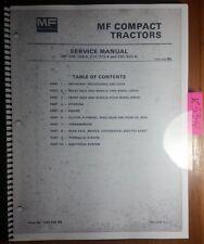 Massey Ferguson Mf 205 205 4 210 210 4 220 220 4 Compact Tractor Service Manual