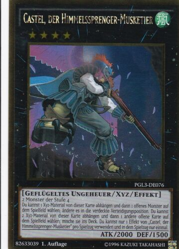 der Himmelssprenger-Musketier PGL3-DE076 GOLD RARE TCG AtzenJens YuGiOh Castel