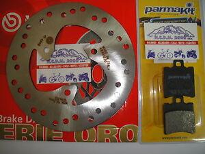 SET-DISCO-BREMBO-PASTILLAS-TRASEROS-APRILIA-SCARABEO-50-2T-1999-2000-2001-717