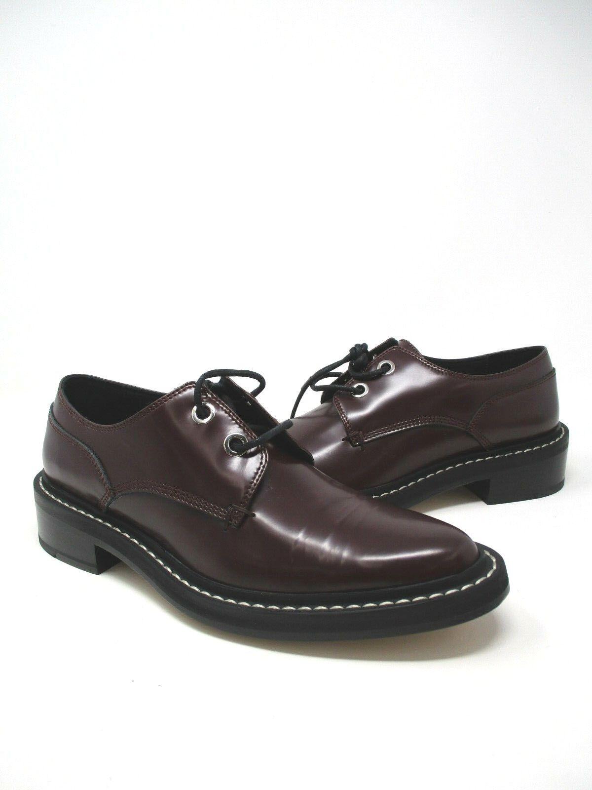 Rag & Bone Kenton Bordeaux Red Lace Up Oxford shoes Sz. EUR 37.5 US 7.5