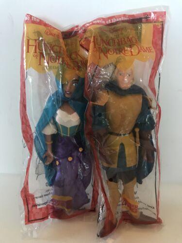 Vintage 1996 Burger King Disney Hunchback of Notre Dame Plush Puppets Set Of 4