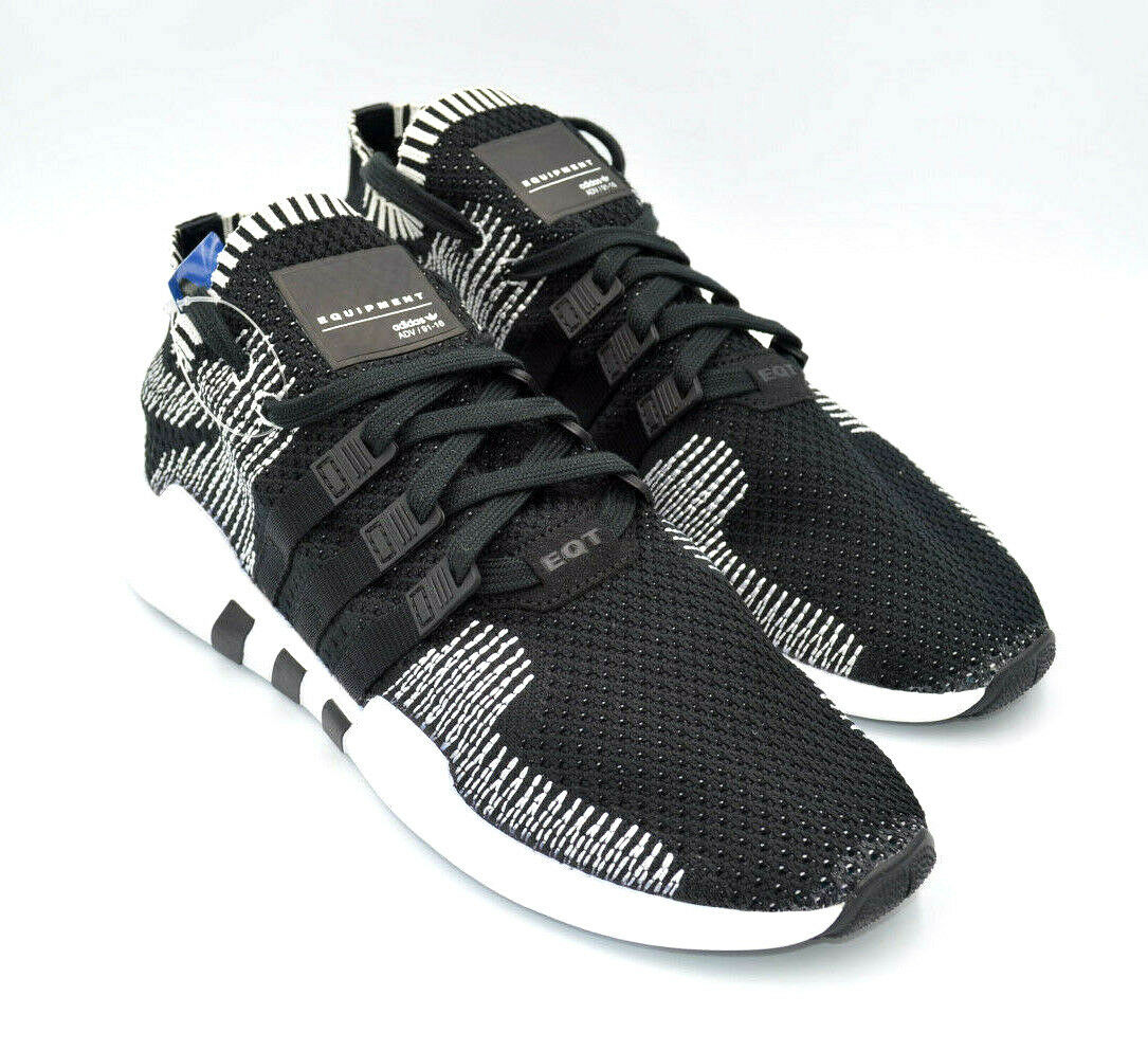 the latest ba3a2 35d2a Adidas EQT Support ADV PK Black / White Primeknit Mens Shoes [BY9390] Multi  Size