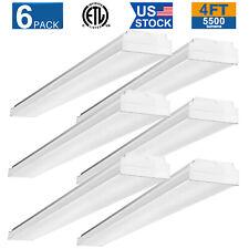 8Pack 4/' LED Shoplights Hanging Shop Light Fixture 4500 Lumens Garage Work B2