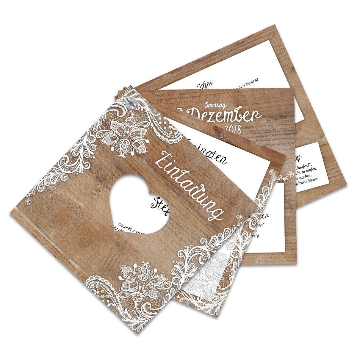 Hochzeitseinladungen Hochzeit Einladung Fächerkarten Fächer individuell Rustikal