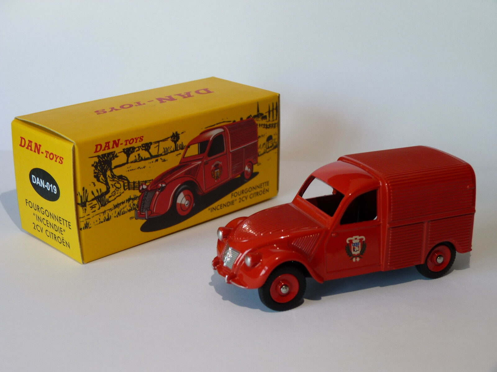 Citroën 2 cv van fire   firefighters dan-019 au 1 43 dinky dan toys