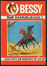 Bessy Sammelband Nr.2 von 1967 mit Bessy Erstauflage Nr.10-12 - SELTENHEIT!