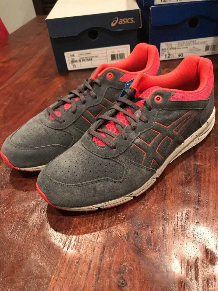 Asics Shaw Runner shoes Sneakers New H539L 1616 Grey orange Mens Size 11.5