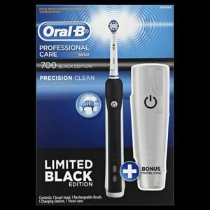 Details about Oral-B 700 Pro Care Black Rechargeable Electric Toothbrush +  Travel Case eb2183665d1d