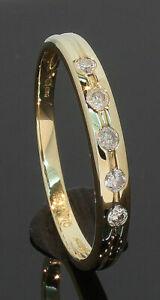 9-Carat-Yellow-Gold-5-Stone-Diamond-Set-Ring-Size-P-0-13ct-80-19-624