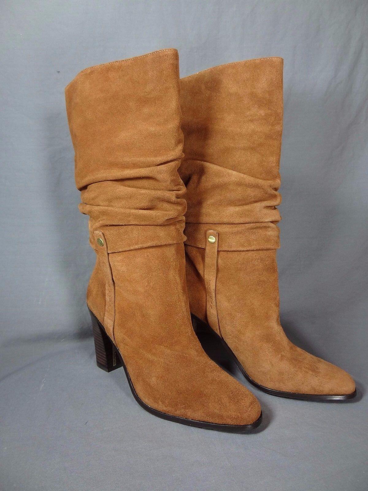 Donald J Pliner Odessa Women US size 9.5 Brown Mid Calf Boot Blemish