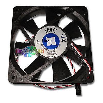 Rubber Mounts! JMC 120mm x 25mm Replacement Fan w// Dell Connector 1225-12HBA