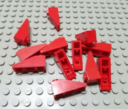 LEGO Lot of 12 Red 3x1 Slope Pieces