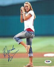 Amanda Beard Signed 8x10 Photo PSA/DNA COA Autograph Picture Angels 1st Pitch