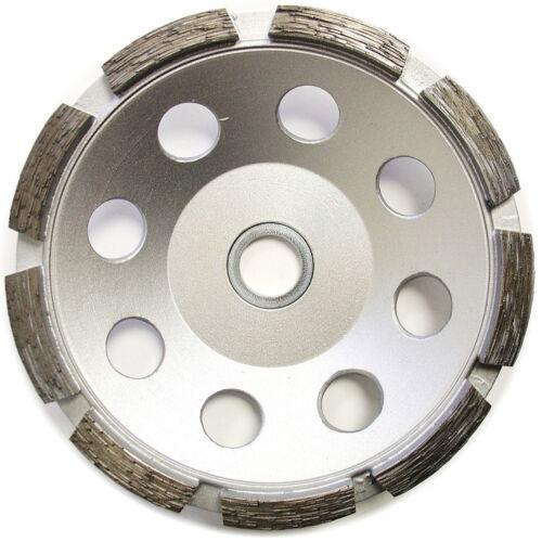 "5"" Single Row Diamond Cup Wheel for concrete Stone Masonry Grinding 7//8""-5//8/"""