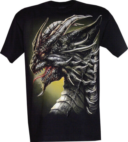 Chinese Dragon Glow in the Dark Gothic Tattoo T Shirt,Front /& Back Print M-3XL