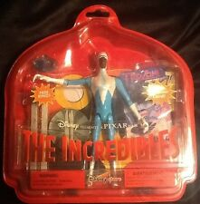 The Incredibles Rare Disney Store Frozone Action Figure Set w Skis Sled Ring NEW