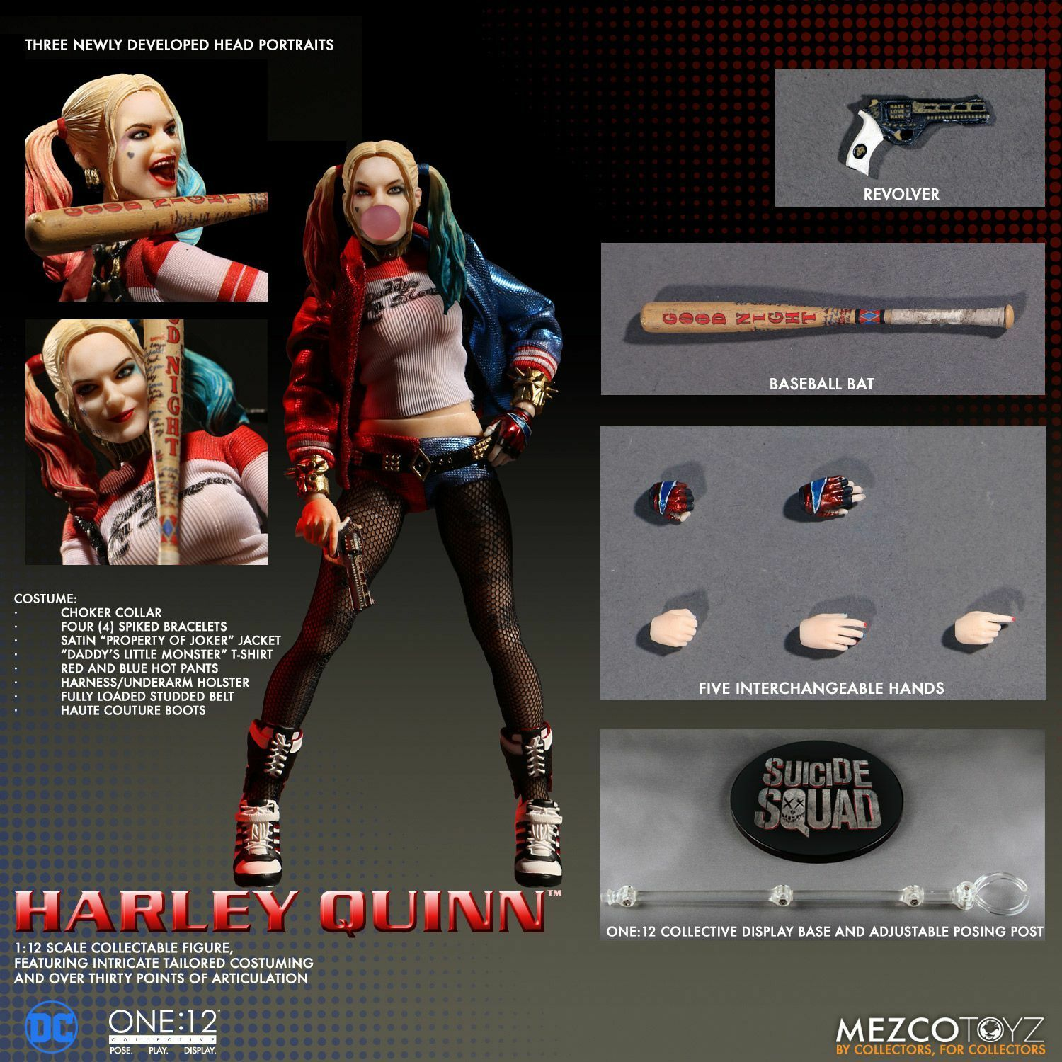 Mezco Toyz Harley Quinn ONE 12 suicide collectif Squad 6  Inch Action Figure